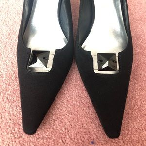 Stuart Weitzman Shoes - Stuart Weitzman Black Fabric Slingback